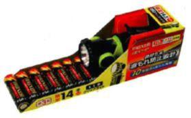 (マクセル)maxell アルカリ電池単4形 16本パック+LEDライトセット