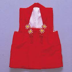 (加藤)KATO 429-0210 女児被布コート 正絹 赤 3才