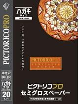 (ピクトリコ) PICTORICO PPS200-HG/20 ハガキサイズ プロ・セミグロスペーパー 半光沢