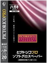 (ピクトリコ) PICTORICO PPG210-HG/20 ハガキサイズ プロ・ソフトグロスペーパー 微光沢