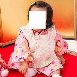 (加藤)KATO 457-6030 ●女児被布セット ピンク 花と鞠/クリーム 小花 100日 中国製 SO
