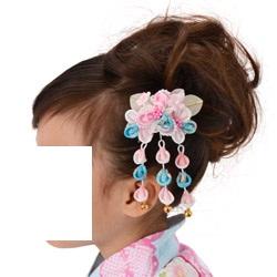 (加藤)KATO 480-6009 髪飾り 灯り ピンク/水色 パール付 16-38-1 TO