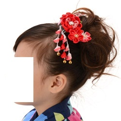 (加藤)KATO 480-6012 髪飾り つまみ梅 赤ぼかし 763-660