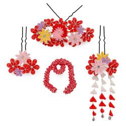 (加藤)KATO 481-6001 勝山セット 赤/ピンク 花重ね #809 中国製 OZ