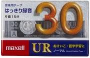 (日立マクセル) maxell UR-30M カセットテープ30分