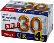 (日立マクセル) maxell UR-30M 4P カセットテープ30分 4本パック