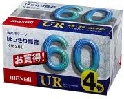 (日立マクセル) maxell UR-60M 4P カセットテープ60分 4本パック