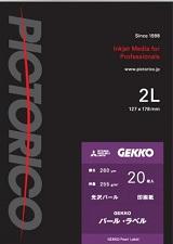 (ピクトリコ) PICTORICO GKN-2L/20 2Lサイズ GEKKOパール・ラベル 光沢パール