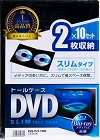 サンワサプライ DVD-TU2-10BK 2枚収納 10枚パック  ブラック スリム