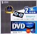 サンワサプライ DVD-TU2-30BK 2枚収納 30枚パック  ブラック スリム