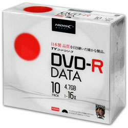 SALE!!(ハイディスク)HIDISC TYDR47JNP10SC データ用DVD-R 10枚