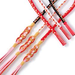 (加藤)KATO 499-1001 女児帯〆 正絹 四本バラ パール付 各色