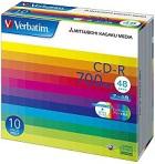 (三菱化学メディア) バーベイタム SR80SP10V1 データ用CD-R 10枚