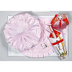 (加藤)KATO 519-0012  ベビー帽セット 正絹 ピンク 大黒 福