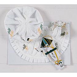 (加藤)KATO 519-0021  ベビー帽セット ポリ 白 大黒