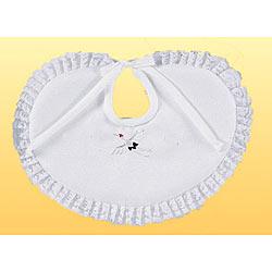 (加藤)KATO 519-0030  ベビー洋フード型 よだれかけ単品 白