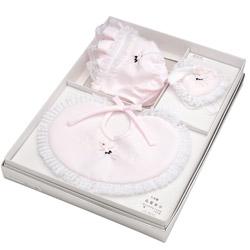 (加藤)KATO 519-0032  ベビー帽セット ポリ ピンク 洋フード型