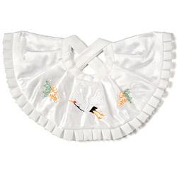 (加藤)KATO 519-0112  よだれかけ ポリ 白 鶴刺繍 10枚