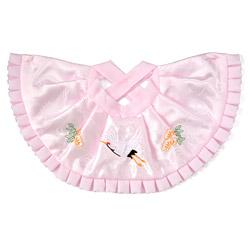 (加藤)KATO 519-0114  よだれかけ ポリ ピンク 鶴刺繍 10枚