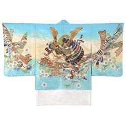 (加藤)KATO 522-6806  男児着物羽織 水色地 兜に小槌 サイズ各種