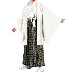 (加藤)KATO 523-4040  ジュニア男紋付 綸子 オフ白 10才 襦袢なし