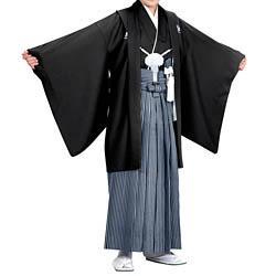 (加藤)KATO 523-5013  ジュニア男紋付 黒 13才 襦袢なし 着物丈短め