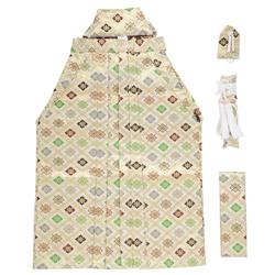 (加藤)KATO   男児袴セット 白地 金菱  K-11 中国製 サイズ各種