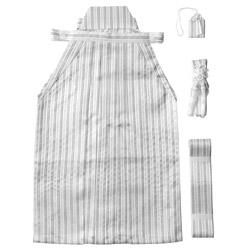 (加藤)KATO   男児袴セット 白銀黒縞  サイズ各種