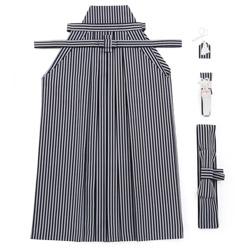 (加藤)KATO  ジュニア男簡易袴セット 白黒縞  中国製 サイズ各種