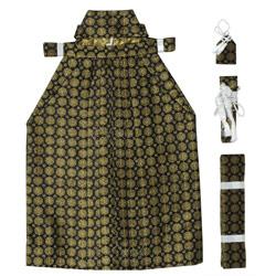 (加藤)KATO   男児袴セット 黒地 金若松  中国製 サイズ各種