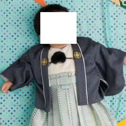 (加藤)KATO 男児トータルセット 濃グレー・オフ白 一体型 100日-1才