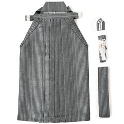(加藤)KATO ジュニア男袴セット 白グレー銀 縄縞 各種サイズ
