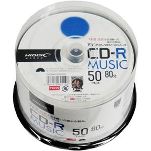 SALE!!(ハイディスク)HIDISC TYCR80YMP50SP 音楽用CD-R 50枚