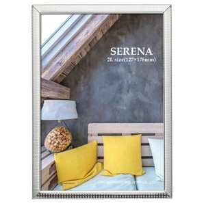 (ハクバ) HAKUBA メタルフォトフレーム SERENA(セレーナ)03 2Lサイズ 1面 シルバー