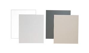 (フジカラー) FUJICOLOR ベタ台紙 半切 ホワイト&ライトグレー