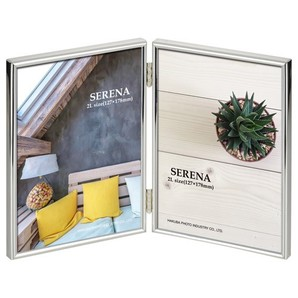 (ハクバ) HAKUBA メタルフォトフレーム SERENA(セレーナ)01 2Lサイズ 2面(タテ・タテ) 各色