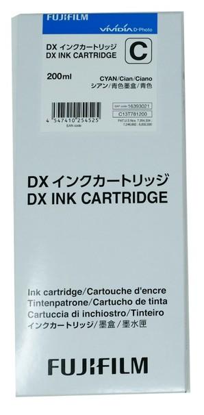(フジフイルム) FUJIFILM DX100 インクカートリッジ  CYAN