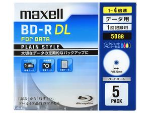 (日立マクセル) maxell BR50PPLWPB.5S データ用ブルーレイ BD-R 5枚