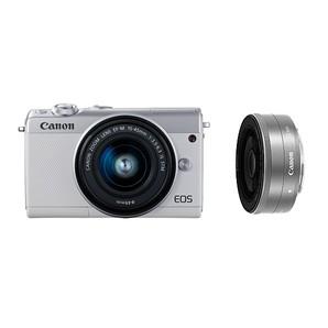 (キヤノン) Canon EOS M100 ダブルレンズキット ホワイト