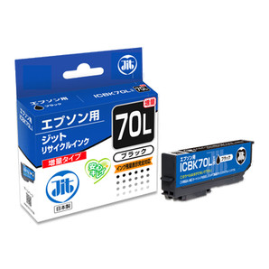 (ジット) JIT JIT-E70BL ブラック インクカートリッジ