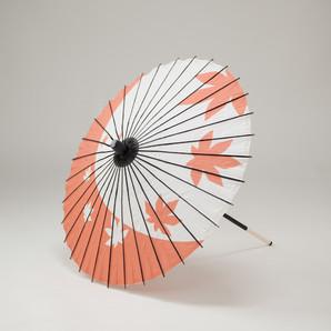 (フルヤ)FURUYA 紙傘64cm 紅葉 / 朱色 PK-0611