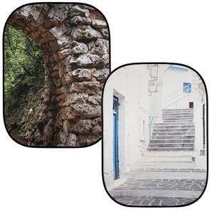 (ラストライト)Lastolite 折りたたみ式 柄背景 1.5mx2.1m 石のアーチ/ギリシャ  LL LB5741