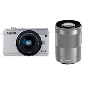 (キヤノン) Canon EOS M100 ダブルズームキット ホワイト