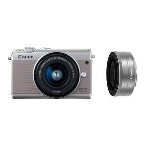 (キヤノン) Canon EOS M100 ダブルレンズキット グレー