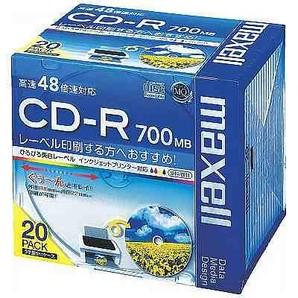 (日立マクセル) maxell CDR700S.WP.S1P20S データ用CD-R 20枚