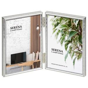 (ハクバ) HAKUBA メタルフォトフレーム SERENA(セレーナ)02 Lサイズ 2面(タテ・タテ) シルバー