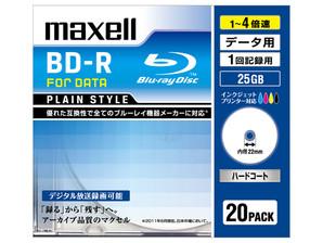 (日立マクセル) maxell BR25PPLWPB.20S データ用ブルーレイ BD-R 20枚