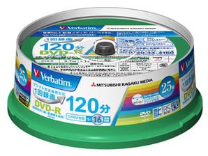 (三菱化学メディア) バーベイタム VHR12JP25V1 録画用DVDーR 25枚