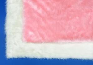 (大矢) Ohya Shoji ボア ホワイト/ピンク 1.6mX1.8m
