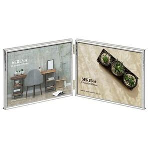 (ハクバ) HAKUBA メタルフォトフレーム SERENA(セレーナ)02 2Lサイズ 2面(ヨコ・ヨコ) シルバー